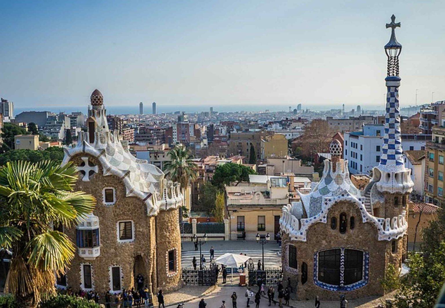park guell Barcelona, Hiszpania