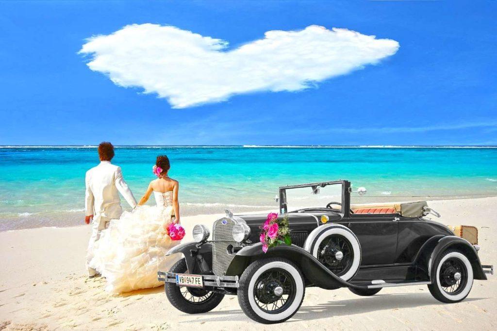 Nowożeńcy, podróż poślubna