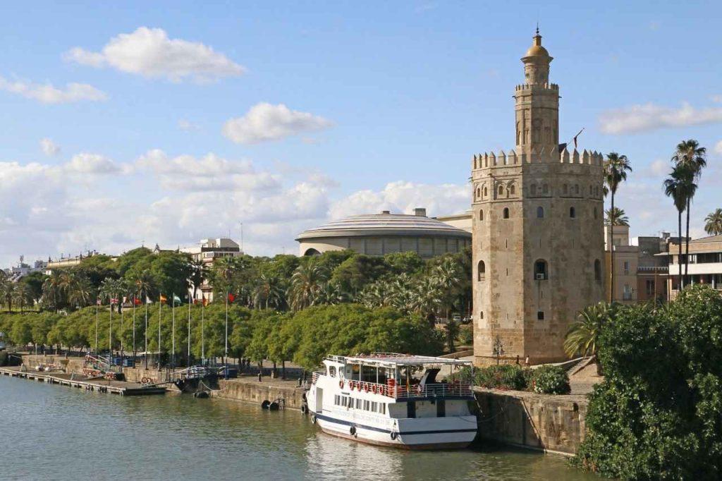 Sevilla złota wieża, Andaluzja, Hiszpania