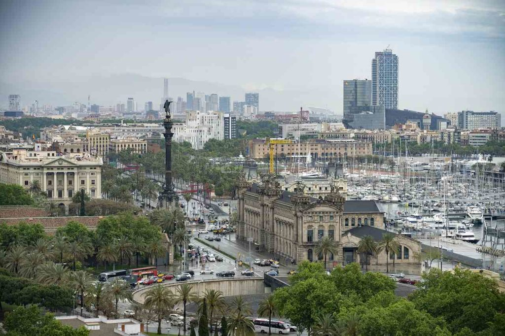 Barcelona widok na Kolumba