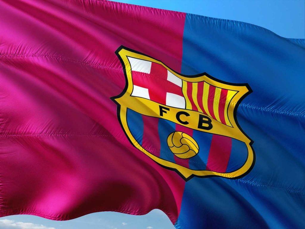 Flaga drużyny FC Barcelona